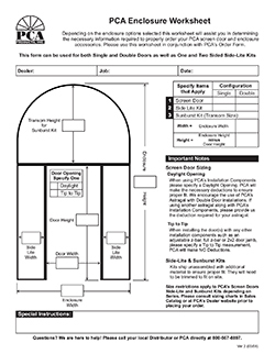 How To Measure For Pca Front Entry Enclosure