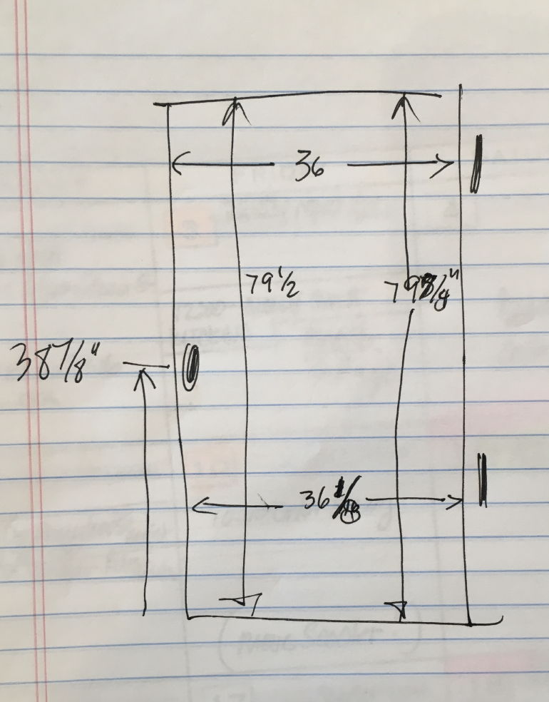 Adair's Screen Door Dimensions Sketch