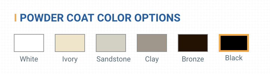 Powder Coat Finishes Swatches