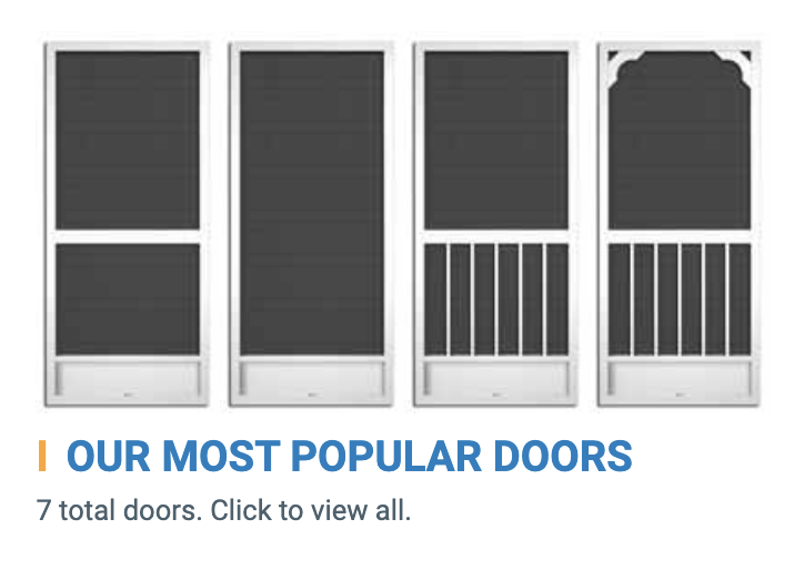 Most Popular Doors Collection