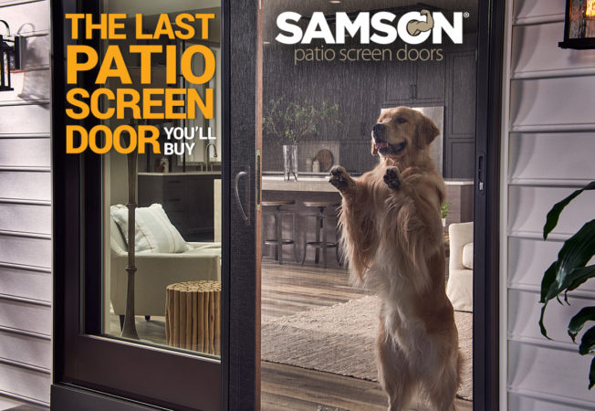 Samson replacement patio screen doors are the strongest, most durable sliding screen doors on the market today