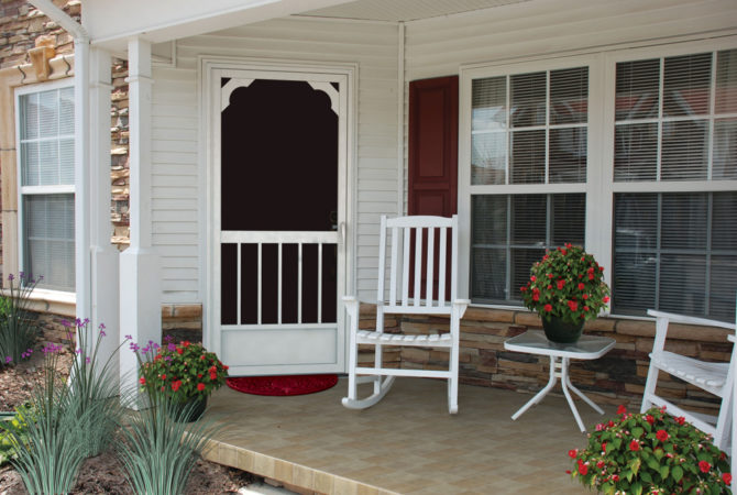 Design your perfect entry screen door – Select from 70 styles in 5 colors.