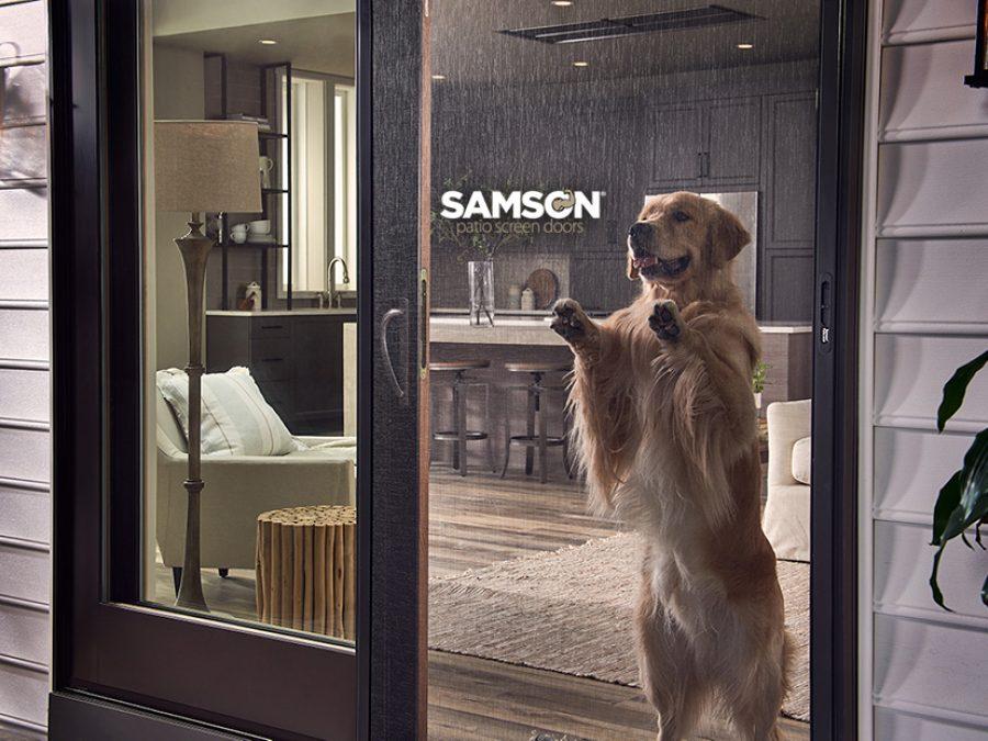 Samson Bronze Dog Logo
