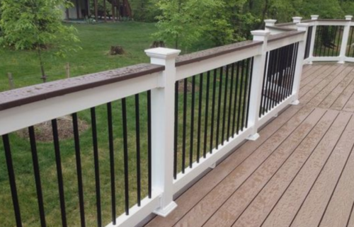 Tuxedo Style Deck Railing Straight