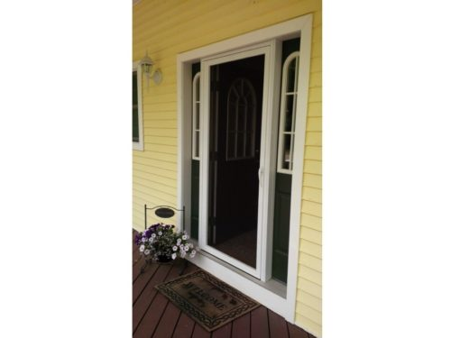 A110 Still Waters No Kick Plate White Entry Open Door