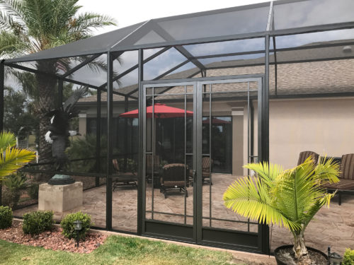 French Door Pool Cage