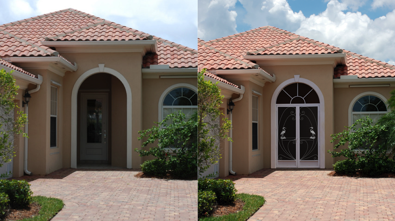 Before and After Front Entry Enclosures