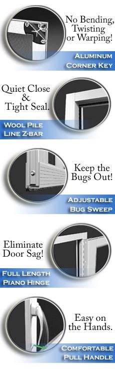 aluminum screen doors best heavy duty screen door