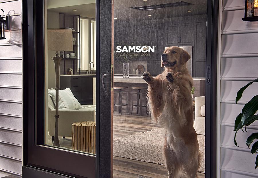 Samson Bronze Sliding Screen Door