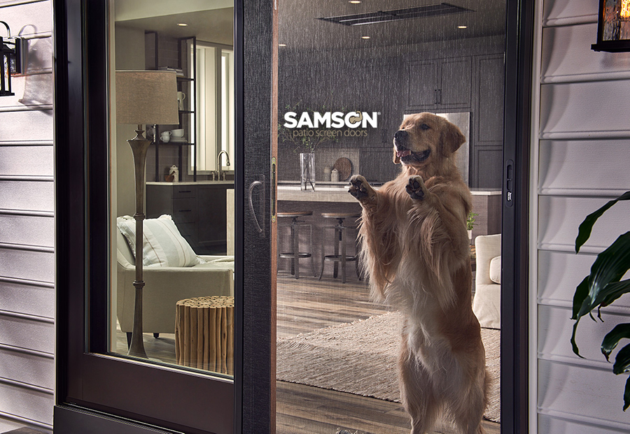 Samson Bronze Sliding Screen Door